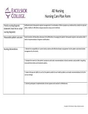AD Nursing Nursing Care Plan Family Chronic Illness.docx