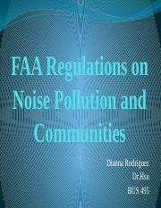 1 DR HSU FAA Regulations on Noise Pollution and Communities 1213.pptx