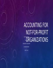 Accounting for Not-for-Profit Organizations