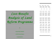 Cost-benefit Analysis of Land Redistribution in South Africa