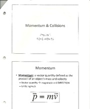Physics- Momentum and Collision notes