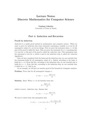 CS 311 Notes on Induction and Recursion