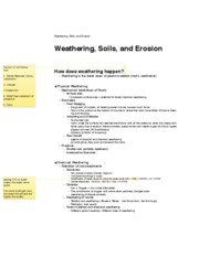 Weathering, Soils, and Erosion