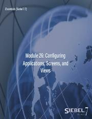 26ESS_Configuring Applications Screens and Views