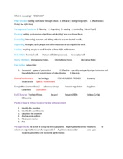 Study guide for test 1 management