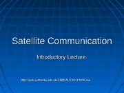 notes-1. Satellite Communication - 1