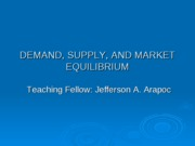 1. Teaching Aid- Demand and Supply