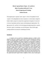 masters thesis syllabus