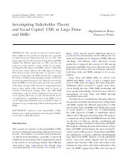 04. Investigating Stakeholder Theory
