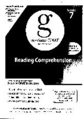 Manhattan GMAT Reading Comprehension 4th edition - Guide 7