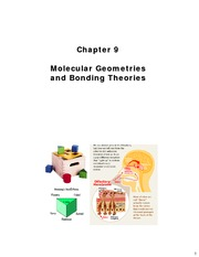 Chapter 9 - Molecular Geometries and Bonding Theories