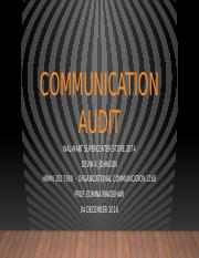 Johnson, D HRMN 302 Communication Audit