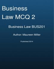 business-law-mcq-exam-2-bus201-washington-state-board-community-colleg