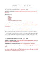 The War for Independence Notes (1).docx