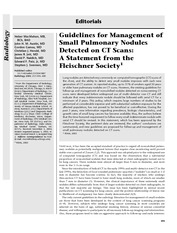 Descriptive_Guidlines for Management Nodules_MacMahon 2005