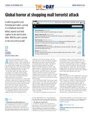 1911 Global horror at shopping mall terrorist attack
