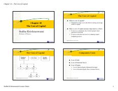 4-Chapter 10 - The Cost of Capital-2
