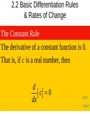 2.2--Basic Differentiation Rules & Rates of Change.ppt