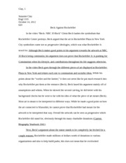 Essay 3: Beck Against Rockefeller