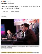 May 10_Debate_ Should The U.S. Adopt The 'Right To Be Forgotten' Online_ _ NPR.pdf