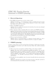 CPSC 322 Fall 2010 Excercise Worksheet 6 Solutions