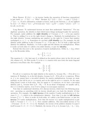 Lecture on Identities and Inverses