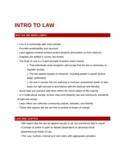 Intro to Law