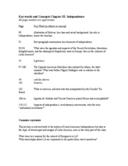 BBF_Ch_3_Independence Study Guide