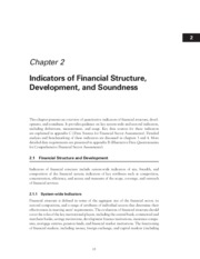 Indicators of Financial Structure