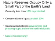 natural reserves