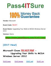 New Pass4itsure Microsoft-70-417 PDF Exam.pdf