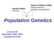 Lecture 24  Population Genetics