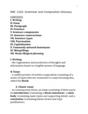 Grammar and Composition Glossary