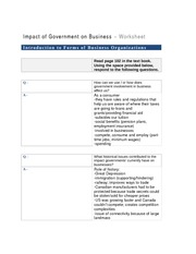 Impact of Governments on Business Module