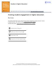 Framing student engagement in higher education.pdf