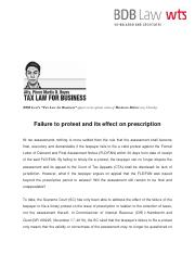 550. Failure to protest and its effect on prescription - PDR 12 29 16.pdf
