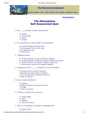 WK 4 Reading Quiz-1 (The Atmosphere)