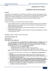 NR501_W2_Importance_of_Theory_Guidelines_&_Rubric2
