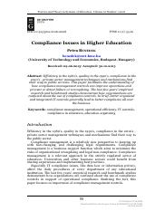 Compliance Issues in Higher Education.pdf