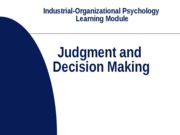 judgment and decision making module