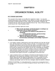 Chapter 9 ORGANIZATIONAL AGILITY