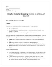 conflict creation guide