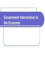 1. Government Intervention in the Economy