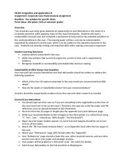 SB205 Corporate Case Study Analysis Assignment FA18.docx
