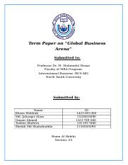Term Paper on International Business & Globalizatoin.docx