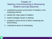 MKT 350 Chapter 16 Powerpoint