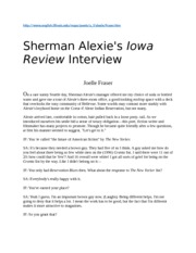 INTERVIEW SHERMAN ALEXIE