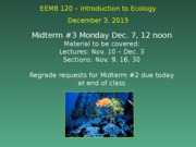 Lecture December 3