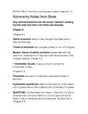 ASTRO 1024 Dr. Shull Stars and Galaxies chapter 5 notes part. 1a