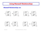 Maxwell Relations 2